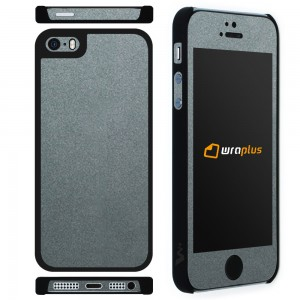wraplus CASE for iPhoneSE / iPhone5S / iPhone5 ガンメタリック